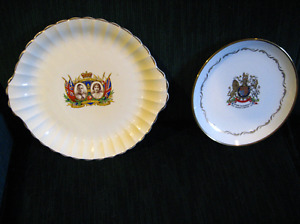 royal family collectors-2 plates 1937 & 1977