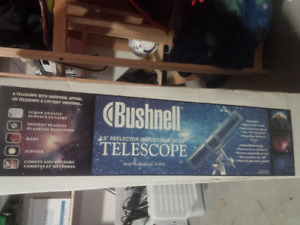 "Bushnell 4.5"" Reflector Telescope - still in box, never used"