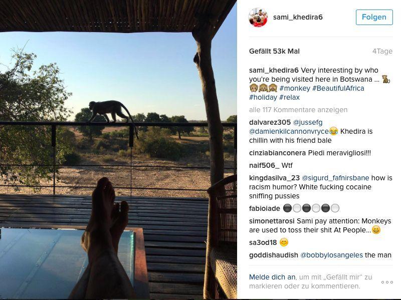 Abendlicher Besuch für Sami Khedira. (Bild: Instagram/ sami_khedira6)