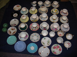 Cups & Saucers Mix Lot of 18 pairs + singles pieces