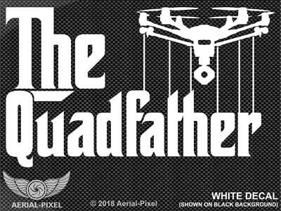 The Quadfather Yuneec Typhoon H Drone Window / Case Decal Sticker