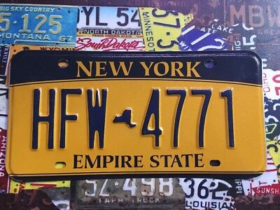 New York Gold American licence Plate HFW 4771