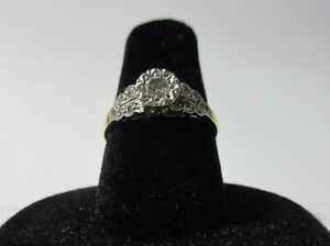 Antique/Vintage 18k Platinum Diamond Ring
