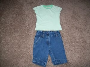 Jean Shorts And T-Shirt Size 5