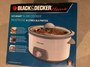 Black and Decker 8.5 quart slow cooker