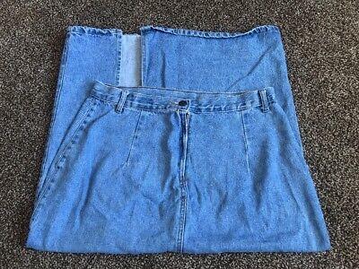 Authentic Stanley Morgan Garment Womens Denim Skirt With Slit On Back Of Skirt