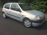 2002 RENAULT CLIO - 1.2L - 1 YEARS MOT - CLEAN - RELIABLE