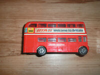 LOT OF LARGE DIECAST DOUBLE DECKER BUSES  CORGI-DINKY-BUDGIE ETC