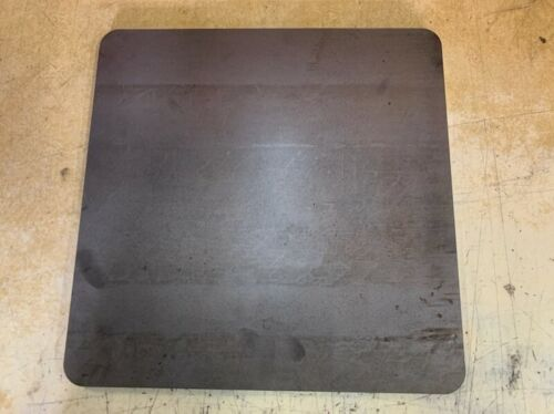 """1/4"""" ROUNDED CORNERS Steel Plate, Rectangle, 16"""" x 16"""", A36 Steel, .25 thick"""