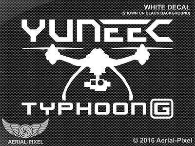 Yuneec Typhoon G Window / Case Decal Sticker Quadcopter UAV Drone Q500+ 4K Gopro
