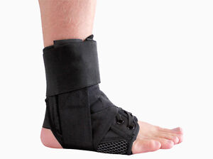 Premium Adjustable Ankle Brace, Lace Up Support- New S M L London Ontario image 4