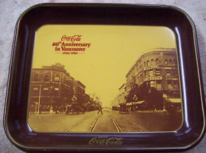 VANCOUVER 60TH ANNIVERSARY COCA COLA SERVING TRAY
