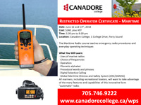 ROC - Restricted Operator Certificate, Parry Sound