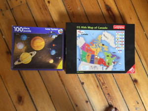 Solar Sytem and Map of Canada Puzzles