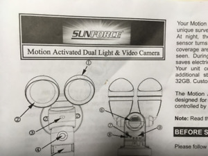 Motion Activated Dual Light and Video Camera