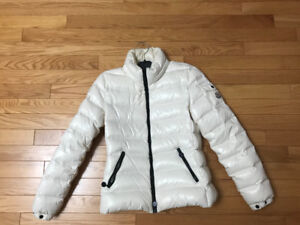 Pre-owned Moncler Bady White Down Coat Size 00