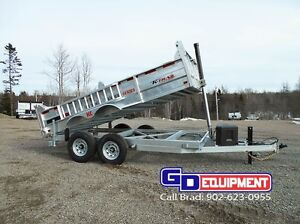 GALVANIZED, DUMP, EQUIPMENT, CAR HAULERS, & UTILITY TRAILERS