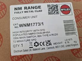 Wylex WNM1773/1 14 Way High Integrity+Type 2 SPD Flexible Busbar