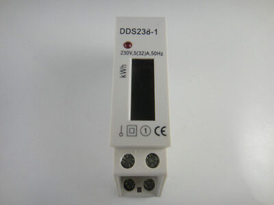 230v 532a Din-rail Kilowatt Hour Kwh Meter Lcd Display 50hz