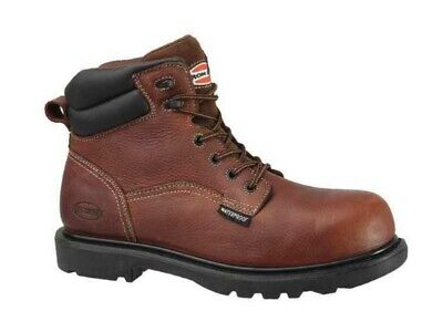"""IRON AGE Hauler 6"""" Brown Leather Composite Toe Work Boots IA0160 Men's 12 M"""