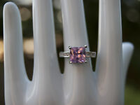 Soft Pink Tourmaline Silver Ring