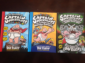 CAPTAIN UNDERPANTS HARDCOVER BOOKS (3 AVAILABLE)