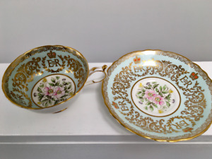 1953 PARAGON QUEEN ELIZABETH II CORONATION TEA CUP AND SAUCER
