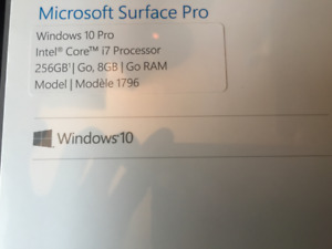 MICROSOFT SURFACE PRO i7 SSD,5th GENERATION,MODEL 1796,SEALED !!