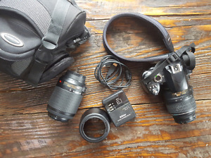 Nikon D60 body  with 18-55 and 55-200