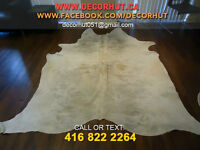 Soft to Touch Natural Shades Cowhide Rug Imported Brazilian