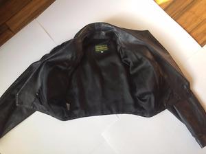 Women's Danier Crop Genuine Leather Jacket - Black Size Small