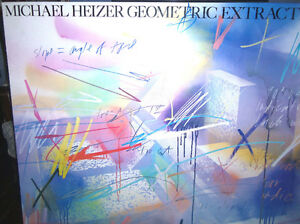 Michael HEIZERGeometric Extraction 1983 Open Edition SIGNED London Ontario image 2