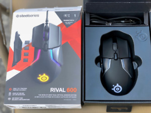 SteelSeries Rival 600 Gaming mouse, RGB Lighting, Used