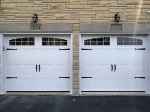 8x7 INSULATED CARRIAGE GARAGE DOORS.... $950 INSTALLED