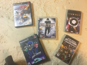 Various PS2, PS3, PSP, and Gameboy Advance Games
