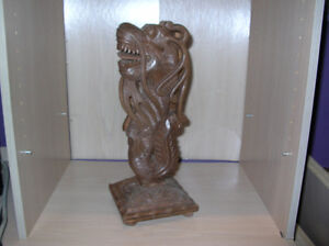 Chinese Carved Wood  Post ( for table or flower pot stand)
