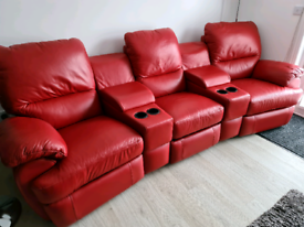 Red lazyboy electric recliner suite for sale