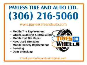 MOBILE TIRE, BATTERY CHANGING, BOOSTING, UNLOCKING