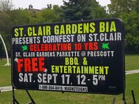 VENDORS WANTED AT THE CORN FEST ON ST. CLAIR