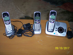 Telephones - Uniden DECT 6.0 plus Answering Machine