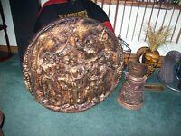 Wooden Plaque & Copper Bucket