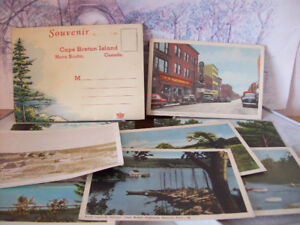 VINTAGE  POST CARDS - YARMOUTH-NEW GLASGOW-VALLEY-NEW YORK