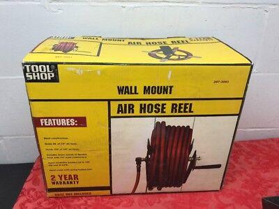 Air Hose Reel 100 Foot 38 Inch Or 50 Foot 12 Inch Hand Crank Steel Wall Mount