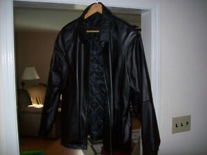 Mens leather jacket, size large, 44, tall