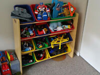 Kids bin organizer natural