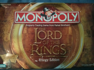 Lord of the Rings Monopoly - Trilogy Edition