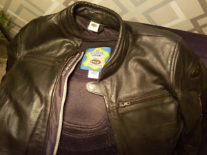 HELD leather motorcycle jacket-removable armor/liner-quality