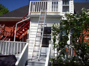 24 FT ALUMINUM EXTENSION LADDER WITH STAND OFFS