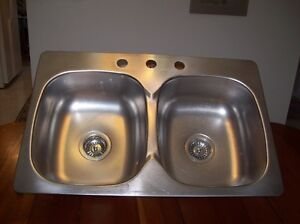 Double Stainless Kitchen Sink 3 hole