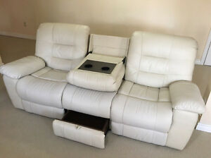 Reclining leather sofa for SALE